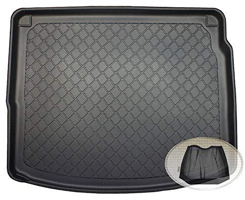ZentimeX Z3102756 Gummierte Kofferraumwanne fahrzeugspezifisch + Klett-Organizer (Laderaumwanne, Kofferraummatte)