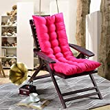 Agmcee Lounge Chair Cushion Extending Folding Rocking Chair Chair Sofa Cushion Sun Lounger Couch Cushion Topper- Hot Pink