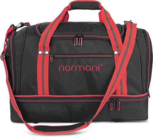 normani Sporttasche 58 Liter - Fitnesstasche - Reisetasche mit großem Schuhfach und Nassfach für Damen und Herren   55 cm x 30 cm x 36 cm Farbe Rot