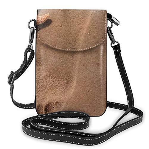 Bolso ligero del teléfono celular de la PU, bolso pequeño de la playa romántica bolso del hombro de la cartera del bolso del Pounch para las mujeres