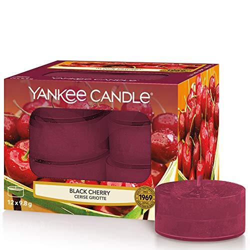 Yankee Candle candeline profumate tea light | Amarena | 12 pezzi