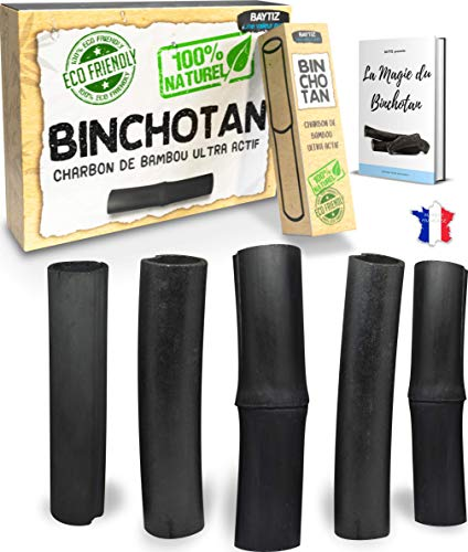 baytiz | Filtro de Agua de Carbón Activo - x5 Binchotan Bio - Purificador de Agua del Grifo - Activado Madera Garrafa Cristal Filtros Mesa Carbono Jarra Activado Bambu Filter Black Cartucho Cartuchos