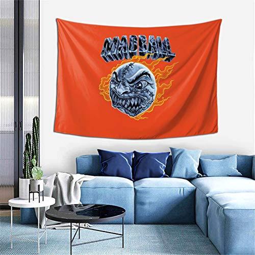 Madball - Tapiz para colgar en la pared, suave, decoración del hogar, para sala de estar, dormitorio, 156 x 100 cm