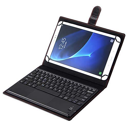 J&H - Custodia universale in pelle con tastiera per tablet Sony Xperia Tablet S da 10', con tastiera Bluetooth (TOUCHPAD MOUSE) per Sony Xperia Tablet S