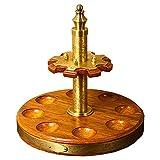YC° Tabakpfeifenständer aus Holz – Rauchpfeifen-Zubehör – für 8 Rauchpfeifen, 360° drehbares Display Pfeifenregal aus Massivholz exquisites Handwerk