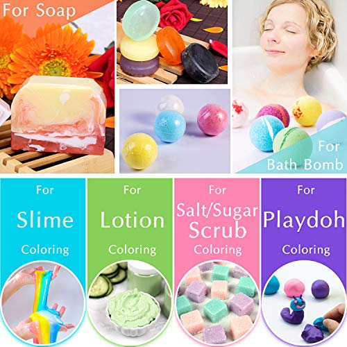 Bath Bomb Mold Kit 12 Pieces with 12 Soap Colorant, Shrink Wrap Bags - Liquid Food Grade Skin Safe Bath Bomb Dye for Making DIY Bath Bombs Supplies, Soap Coloring, Crafting Fizzles - with Instructions