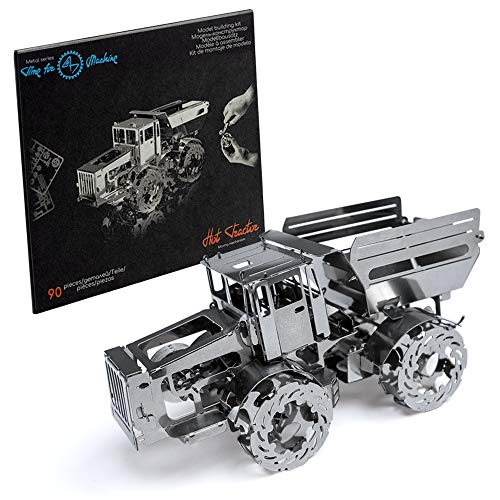 Model Car Kit - 3d model kit Hot Tractor - Metal Moving Wind-Up Car Model | 3d Puzzle for Adults - Steampunk Metal DIY Kit | Beautiful Metal Model Car Collectible | DIY Construction Set of a Shiny Tra
