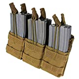 CONDOR Tactical Triple Stacker Open-Top Mag Pouch - Brown...