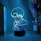 Lámpara de mesa de anime animado 3D de ilusión LED, lámpara de mesa, lámpara de ambiente, utilizada para la decoración de la habitación, regalo para niños