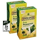 Twinings PURE Peppermint Tea Bags 2x 40g - wunderbar erfrischender