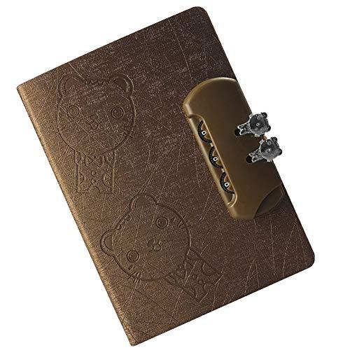 WINON Notebook,Cuaderno, Libro de revistas Estudiante de la Escuela con Bloc de Notas Cuaderno Diario Cuaderno Engrosamiento Pequeño Fresco (Color : Brown)