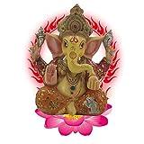 Resina Ganesh hidu Elefante Estatua Elefante Buda Figura Dios del éxito Ornamento Decorativo para Coche de Oficina en casa,b