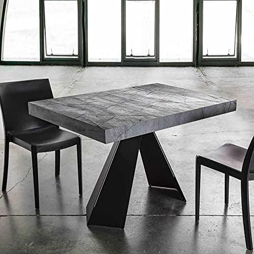 Novomeuble - Mesa extensible con efecto piedra gris