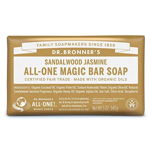 ネイチャーズウェイ ドクターブロナー マジックソープバー magic soap 石鹸 サンダルウッド&ジャスミン 140g ネイチャーズウェイ