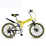 Grimk Bikes Montaña Mountainbike 22' Btt,Plegable De Aluminio Bicicleta De...
