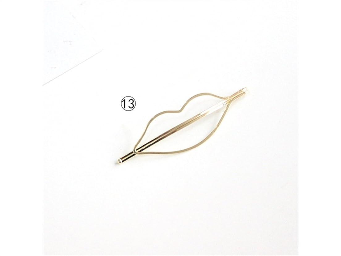 銃本チューリップOsize 美しいスタイル 幾何学ミニマリストクリスマスツリースターフィッシュクラウンリップウサギキッテンヘアクリップサイドクリップヘアピンヘアアクセサリー(リップス)