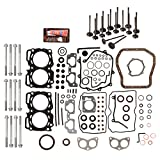 Evergreen FSHBIEV9009 Full Gasket Set Head Bolts Intake Exhaust Valves Compatible With 99-03 Subaru Impreza Legacy Forester Outback 2.5 EJ25 SOHC