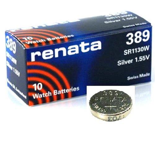 Renata 389a bottone (litio, prodotto in Svizzera), SR1130W, 1pezzi