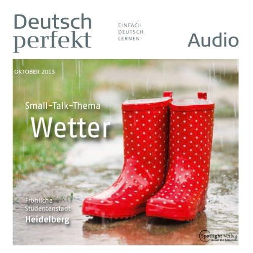 Deutsch perfekt Audio - Das Wetter. 10/2013 Titelbild