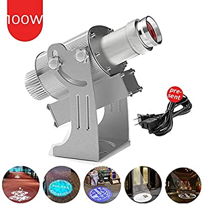 HENGGE 100W LED Custom Image GOBO Logo Projector Light with Remote Control&Gyrating Function& Manual Zoom&Focus Customized Gobos