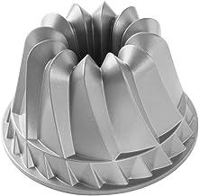 """Nordic Ware 59937 Kugelhopf Bundt Cake Pan, 9 x 9 x 5.125"""", Gray"""