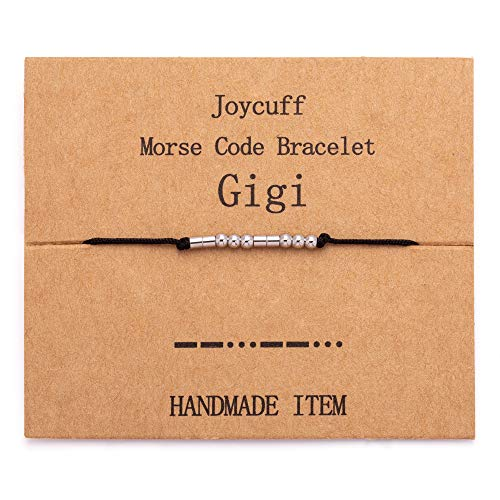 Joycuff Gigi Morse Code Bracelets for Grandma from Granddaughter Grandmother Jewelry Gigi Christmas Birthday Gifts for Women