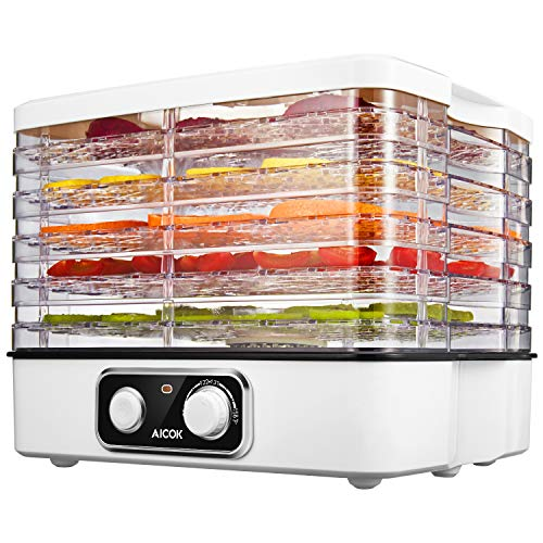 Best Deals! Aicok Food Dehydrator, 5-Tray Food Dehydrator Machine with Extensible Capacity for Jerky...