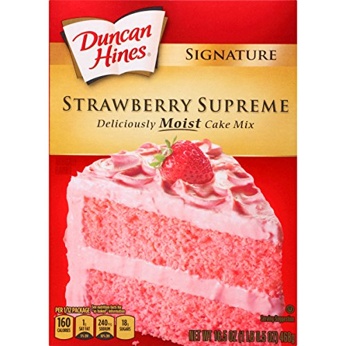 Duncan Hines Signature Cake Mix, Strawberry Supreme, 16.5 oz