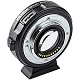 VILTROX EF-M2 II - Adaptador de Objetivo de Aumento de Velocidad para cámaras Canon EF Mount Series a M43 GH4 GH5 GF6 GF1 GX1 GX7 E-M5 E-M10 E-PL5