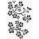 Plantillas de 1 pieza, Pintura de dibujo hueca de plástico PET de flores, Accesorios para pasteles