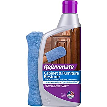 Rejuvenate Cabinet & Furniture Restorer Fills in Scratches Seals and Protects Cabinetry Furniture Wall Paneling
