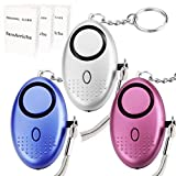 FansArriche 3 PACK Personal Alarm Keychain with Flashlight Personal Protection Devices for Women, Girls,Kids and Elderly