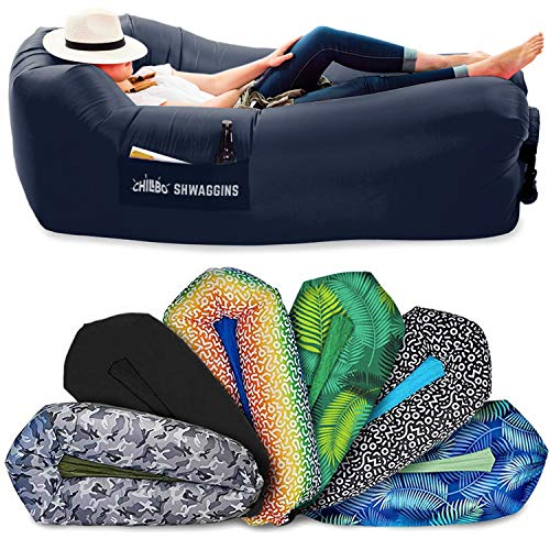 Chillbo Shwaggins Inflatable Couch – Cool Inflatable Chair. Upgrade Your Camping Accessories. Easy Setup is Perfect for Hiking Gear, Beach Chair and Music Festivals. (Royal Blue)