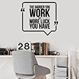 WERWN Hard Work Wall Decals Office Space Quote Inspirational Lettering Interior Decoration Vinyl Wall Stickers Mural Modern Decals