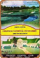 ブリキ看板ビンテージクラシックアメリカ飾り1946コロニアル国立フォートワースグッズ壁アート