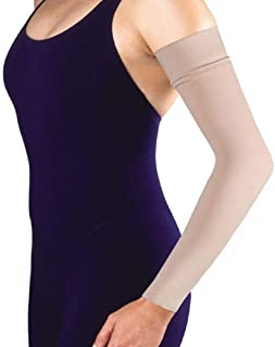 "Women's 20-30 mmHg Arm Sleeve with 2"" Silicone Top Band Size: Medium"