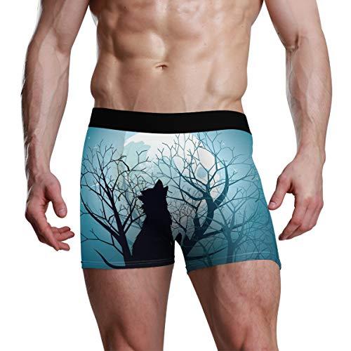Wolf Animal Boxershorts für Herren, für Teenager, Jungen, S, M, L, XL Gr. X-Large, Mehrfarbig