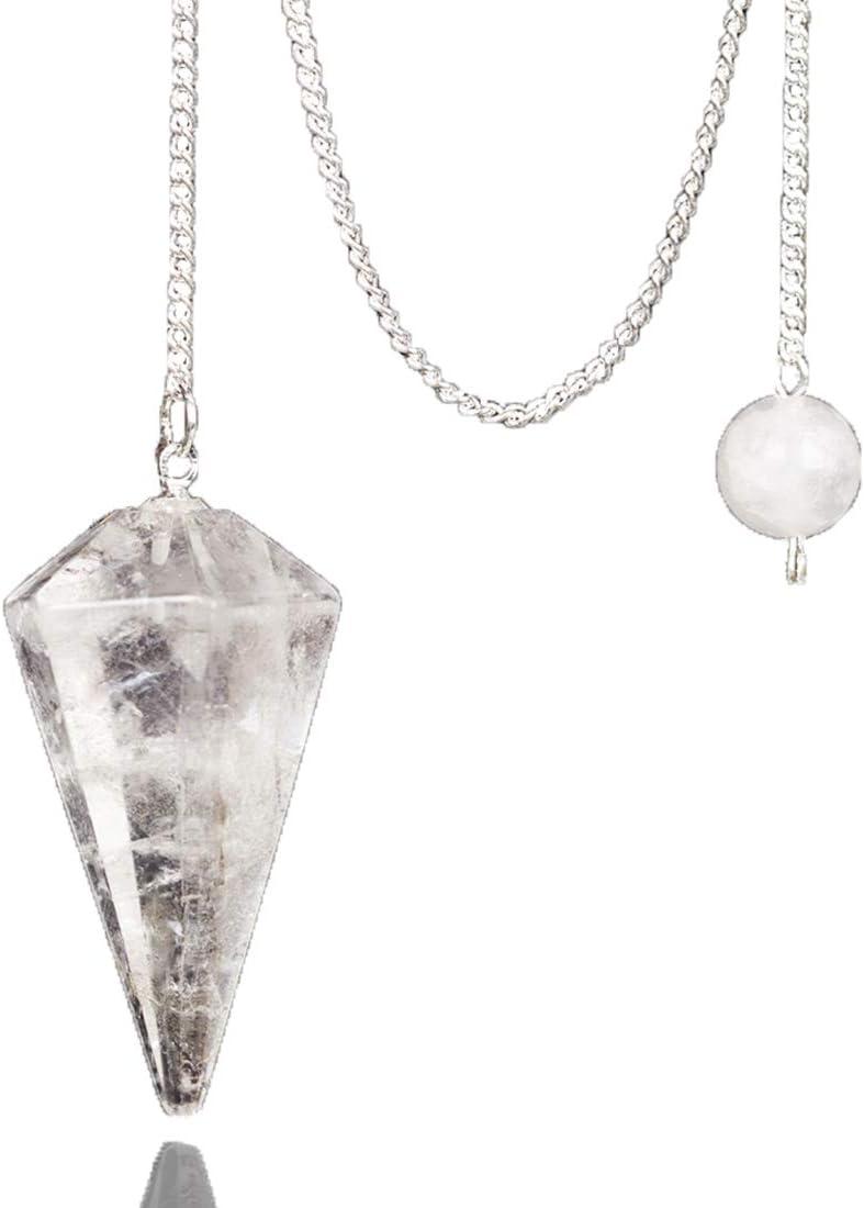 Rock Sale Special Price Quartz Clear Crystal Pendulum In stock Reiki Healing 12 Facet Stone