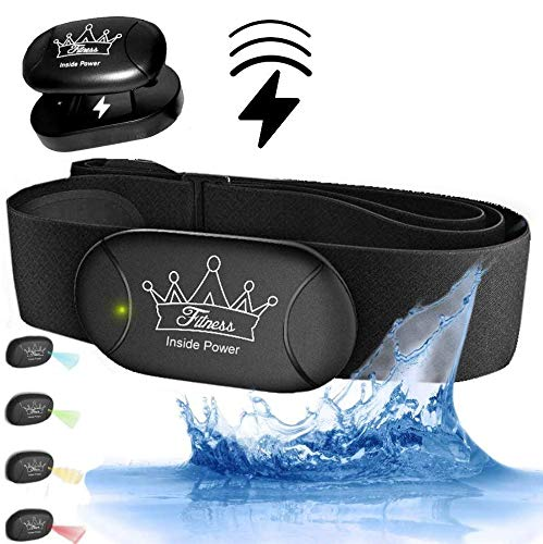 Fitness Prince© Heartbeat 3 AKKU Inside Power Bluetooth & ANT+ Gratis eBook - kompatibel zu Garmin Wahoo Polar RUNTASTIC iPhone Android Brustgurt Herzfrequenzmesser (Mit Armband Oberam)