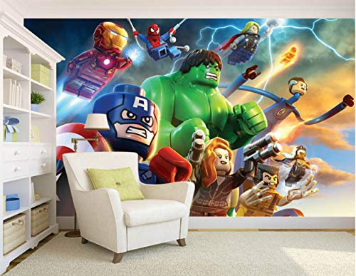 Marvel Super Heroes Wallpaper The Avengers 3d Wall Paper Kids Bedroom Wall Paper Mural Rolls Sofa Tv Background Stoffering