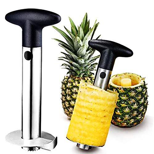 Pineapple Peeler Corer Slicer Cutter Stainless Steel, Easy Clean Anti-Slip Handle Pineapple Slicer Core Remover Tool for Home & Kitchen Fruit Rings