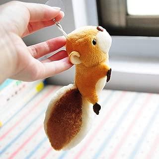 FRIDG Plush Soft Toy, Cute Cartoon Squirrel Plush Stuffed Doll Toy Keychain Key Ring Backpack Ornament Brown