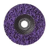 Rueda de disco de tira polivinílica duradera 125 * 22 mm Eliminación de óxido de pintura de metal de madera Herramientas abrasivas limpias para amoladora angular Mayitr - Púrpura