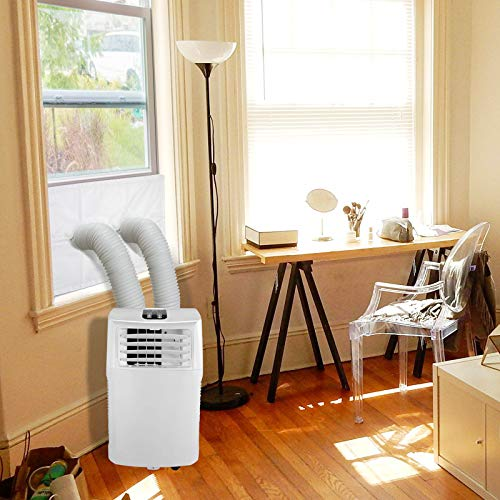 HOOMEE Fensterabdichtung für Mobile Klimageräte, Zum Anbringen an Schiebefenster Vertikal/Horizontal, Fensterabdichtung Klimaanlage für Fensteröffnungen bis 152x35cm, Auf 4 Längen Zuschneidbar