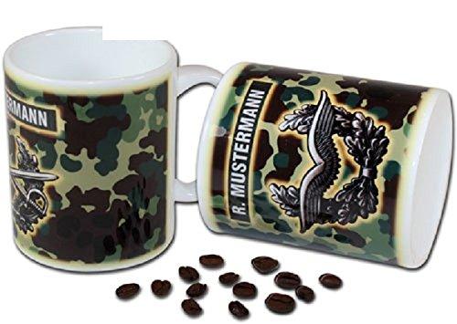 Schwemmlein Bundeswehr Tasse - Luftwaffe mit Barettabzeichen - Flecktarn 95x110mm