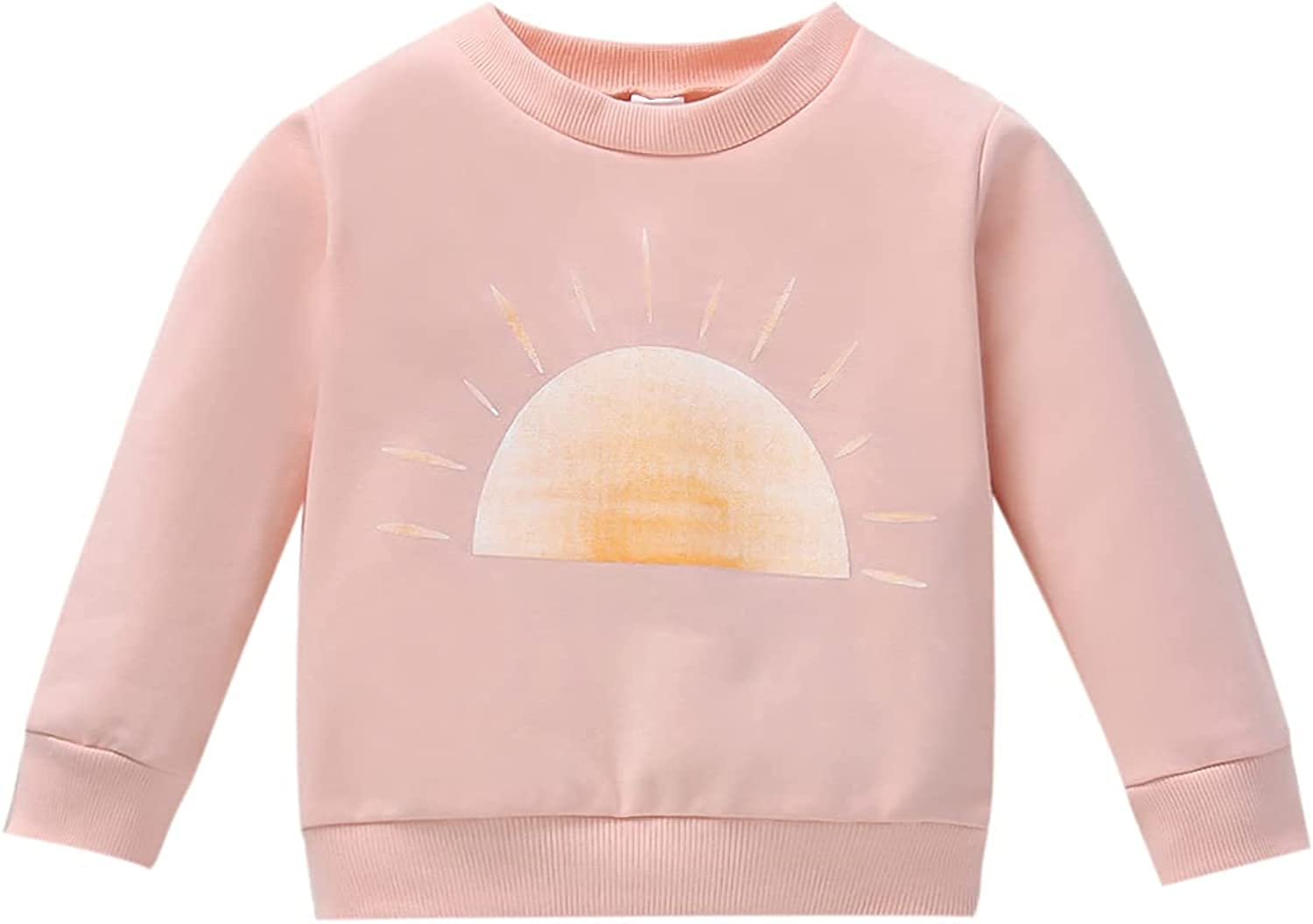 Toddler Baby Girl Boy Sweatshirt Long Sleeve Pullover Top Sweaters Sun Print Shirts Fall Winter Blouses Clothes