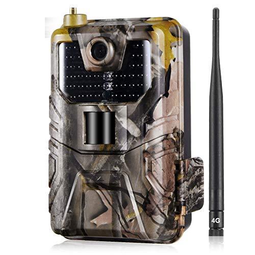 L-SLWI 4G Trail Cameras 16MP 1080P con VISIÓN Noche 65FT / 20M 940NM Sin Leds Flow IR, Cámara De Caza Cámara 4G gsm MMS con Sensor De Movimiento Activado, IP65 Impermeable