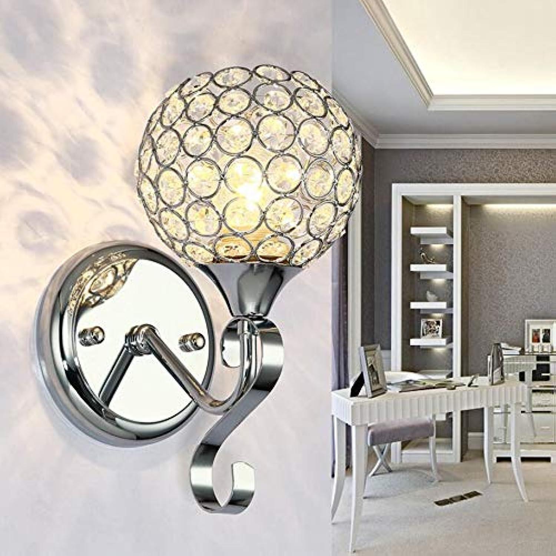 Kklak Moderne helle Luxuswohnzimmerwandlampe, LED-Kristallwandleuchte, verwendbar für Schlafzimmernachtwohnzimmer,Silber