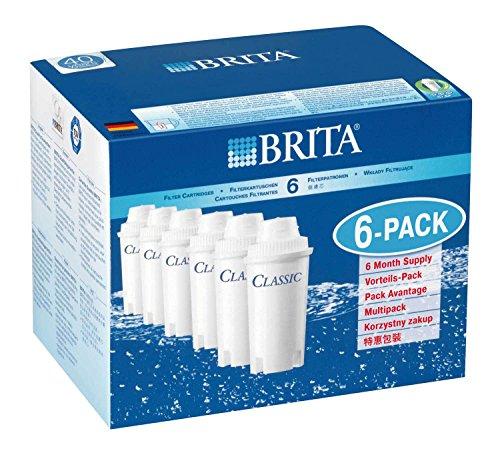 【並行輸入品】 本家本元ドイツのブリタ(BRITA)クラシック(CLASSIC) 【新品大箱6個入り】ブリタクラシック浄水器ポット交換用カートリッジ 6個 日本の水がいっそう美味しくまろやかに!