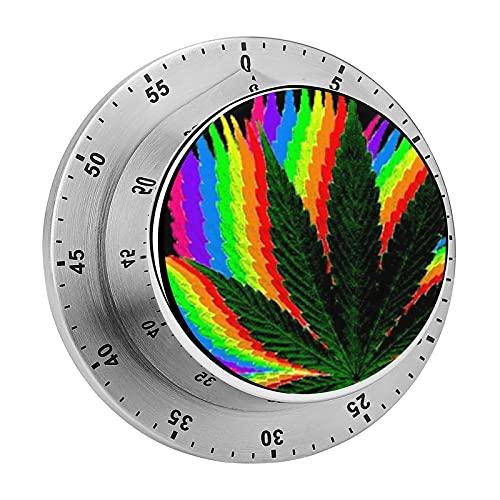 Temporizador de cocina, Trippy Marihuana Hd Weed Wallpapers Trippy Weed Iphone Chasis Magnético de acero inoxidable de alarma, utilizado para la cocina, hornear, fitness ejercicio temporizador